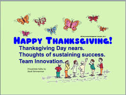 happy thanksgiving haiku on and workplace improvement