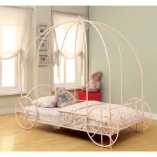 Twin Size Canopy Bed Frame Bedroom Furniture Metal Canopy Bed Frame Queen Childrens Bed