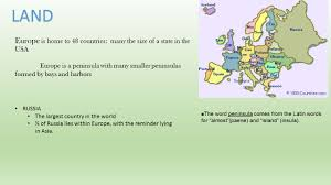 physical geography of europe ppt download