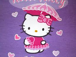 kitty logo purple wallpaper
