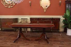 Mahogany Dining Room Set Duncan Phyfe Style Double Pedestal Dining Table Reproduction