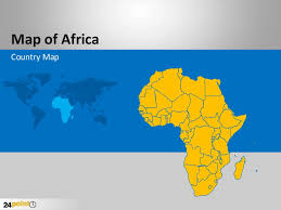 customizable africa powerpoint map