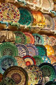 handmade turkish plates for sale kapalicarci istanbul turkey