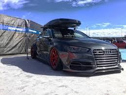 slammed audi a6 audi s3 sedan widebody and slammed e golf revealed by allroad