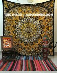 Hippie Curtains Yellow Star Hippie Tapestries Dorm Room Bohemian Tapestry Wall Hanging