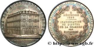 chambre des notaires 63 second empire médaille d inauguration de la chambre des notaires de