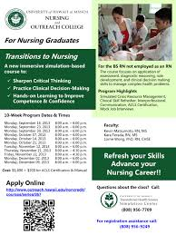 transitions to nursing simulation based course offered for fall