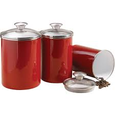 Vintage Kitchen Canisters Sets by Red Canister Set For Kitchen Kenangorgun Com