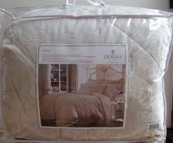 dorma aveline natural bed linen quilted throw over 265 x 265 new