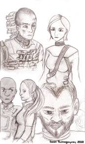 dead space character sketches by seansumagaysay on deviantart
