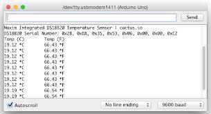 hookup code arduino to ds18b20 temperature sensor tutorial