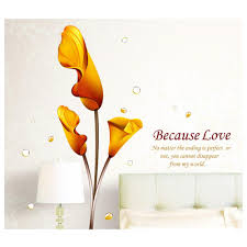 adesivo de parede golden calla lily flower wall sticker decal see larger image