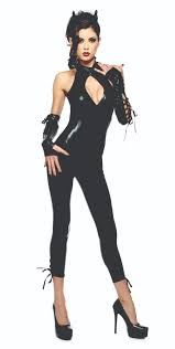 womens black cat superhero woman halloween costume