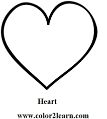basic shapes free print cute heart shape coloring pages coloring