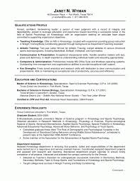 Scientific Resume Examples by Resume Template For Undergraduate Students Utsa College Of
