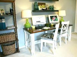 two person home office a two person desk to make an organized and
