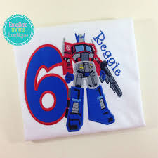 transformer birthday optimus prime transformers boys birthday party shirt top