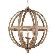 decor 4 light brown wood globe chandelier for traditional dinimg