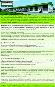 good resume for accounts manager job in bangalore railway jobs in safexpress vacancies in safexpress opportunities at