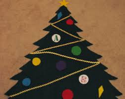 felt christmas tree etsy
