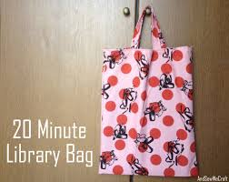 tutorial 20 minute library bag and sew we craft