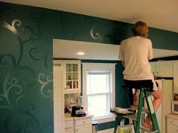 painted kitchen backsplash mosaic tile stencils annie sloan chalk paint on tile backsplash