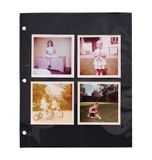 photo album page inserts black mylar 3 ring binder sheet protectors exposures