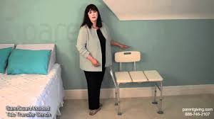 Invacare Tub Transfer Bench Careguard Molded Tub Transfer Bench Inv98071 Youtube