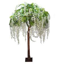 7ft artificial white silk wisteria flower tree dongyi