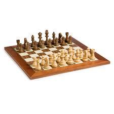 solid maple walnut staunton chess set hayneedle