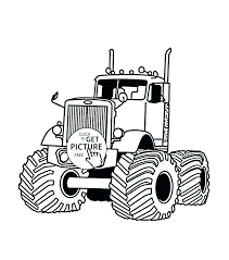 semi truck and trailer coloring pages of trucks trailers
