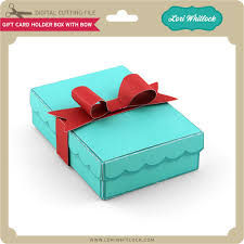 gift card holder gift card holder box with bow lori whitlock s svg shop