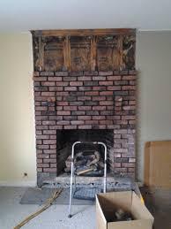 fresh replacing fireplace brick decoration ideas cheap creative
