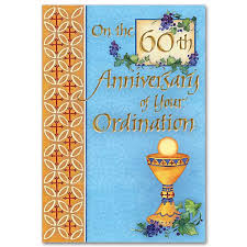 60th anniversary card messages 60th ordination anniversary ordination anniversary card 60th