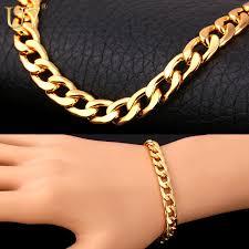 silver gold bracelet images U7 brand bracelet men women jewelry wholesale trendy black silver jpg