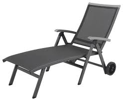Outdoor Chaise Lounge Chairs With Wheels Ludwig Aluminum Sling Folding Chaise Lounge With Wheels