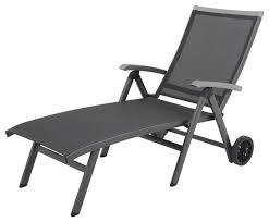 Folding Chaise Lounge Ludwig Aluminum Sling Folding Chaise Lounge With Wheels