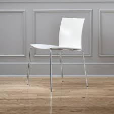 White Modern Dining Chair Slim White Chair Cb2