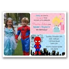 spiderman and rapunzel inspired birthday invitation split joint