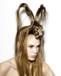 hair styles for in late 30 weird hair what appears to be a rabbit confused hair does