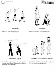 garage workout overhead squat clean and press bpm rx
