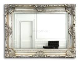 Decorative Mirrors For Living Room by Decorating Marvelous Gray Ornate Around Rectangle Decorative Wall