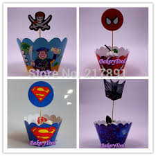 transformers cake decorations hot 4 designs transformers superman pirate 48pcs cupcake