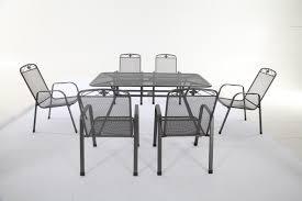Mesh Patio Table by Royal Garden Savoy 6 Seater Rectangular Table Set