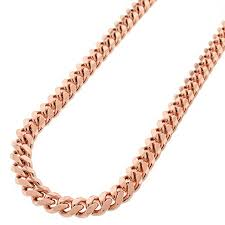 rose gold link necklace images 14k rose gold mens womens 7mm solid miami cuban curb link chain jpg