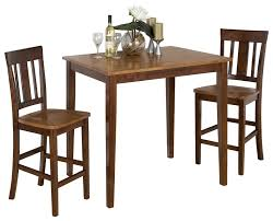 jofran kura espresso and canyon gold counter height table set w 2