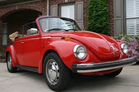 red volkswagen convertible 1974 vw super beetle convertible