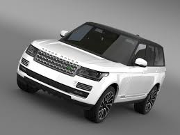 land rover autobiography white range rover autobiography v8 l405 3d model vehicles 3d models avto