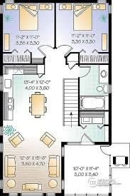 2 bedroom open floor plans house plan w2933 detail from drummondhouseplans com