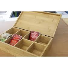 berghoff bamboo tea box 2211830 the home depot
